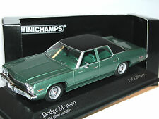 Minichamps 400144771, Dodge Monaco, 1974, green metallic, 1/43, limited Edition