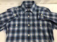 New Tom Ford Blue Check Plaid Casual Button-Down Shirt Size 38EU/15US $595.00