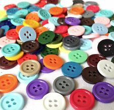 150  JEWELLERY MAKING PLASTIC BUTTON BEADS CRAFTS  15mm  AB0118