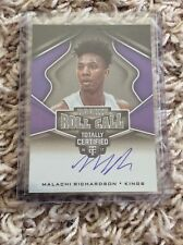 2016-17 Rookie MALACHI RICHARDSON Totally Certified AUTO/Signed On Card KINGS