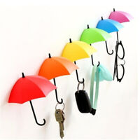 3pcs Cute Umbrella Wall Mount Key Wall Hook Hanger Organizer Holder Durable Chic