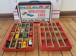 Vintage 1966 Mattel Miniature Cars Carrying Case With 20 Vintage Cars