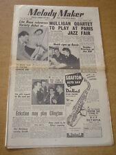 MELODY MAKER 1954 MAY 1 LITA ROZA GERRY MULLIGAN PARIS JAZZ FAIR FLAMINGO +