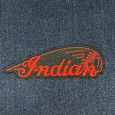 INDIAN MOTORCYCLE MOTO LOGO IRON ON EMBROIDERED PATCH