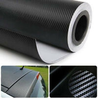 3D Black Carbon Fiber Vinyl Wrap Sticker Car Interior Panel Interior Accessories