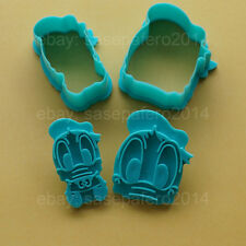 Baby Donald Duck cookie cutter with stamp 4 pcs set. Cortador Pato Donald