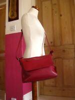ROWALLAN red Leather Shoulder Messenger Bag cross body handbag hand