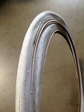 (2xTires) 26x1.25 White Bicycle Tires-Road Bike, Fixie