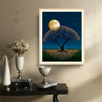 5d diy diamond painting full drill landscape moon tree mosaic home decoration JR