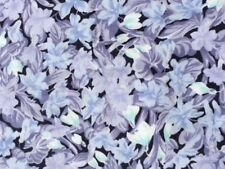 Lilac Floral 100% Cotton fabric by the half metre