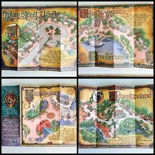 Walt Disney WDW Sorcerer's Of The Magic Kingdom Map Disney Ephemera