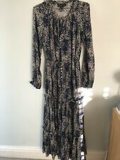 Elizabeth And James Stunning Silk Floral Maxi Dress New Tags Size 12 US 8
