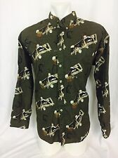 1980's Vintage Salty Dog Gant Fishing Motif Men's Shirt. XL. NWOT Dead Stock.