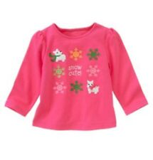NWT 3T Gymboree CHEERY ALL THE WAY Pink Snow Cute Snowflake Scotty Dog Shirt Top