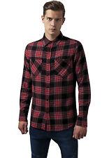 Urban Classics Uomini Maglieria / Camicia Checked Flanell 3 2xl Rosso - 294173