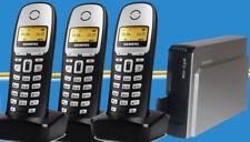 Trio set Siemens Gigaset terminal móvil a160 con analógicos de estación base teléfono DECT 2er