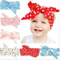 Newborn Infants Girl Baby Bow Headband Hair Band Accessories Headwear Head WrapO