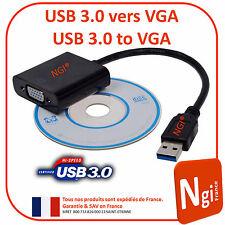 USB 3.0 a VGA multi conexión adaptador convertidor externo Gráfica Tarjeta