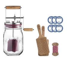 Kilner UK Glass Butter Churner Starter/Gift Set #25.353 - Churn, Paddles 1 Liter