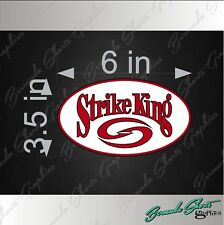 "STRIKE KING OVAL Fishing Logo / SINGLE / 6"" Vinyl Decal Watercraft Sticker"