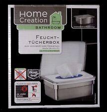 Kosmetik Hygiene-Feuchttücherbox Edelstahl frei oder Wandmontage MIT Klebeset !!