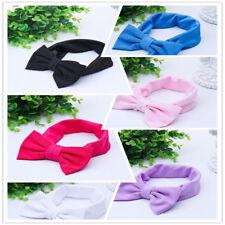 Toddler Girls Baby Bow Hairband Headband Stretch Turban Knot Head Wrap Wholesale