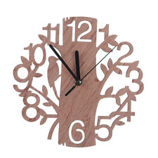 Creative Wooden Wall Clock Retro Big Number Clock Tree Shape Decoration Gift
