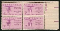 #1089 3c American Architects, Plate Blk [25626 UR], Mint **ANY 4=FREE SHIPPING**