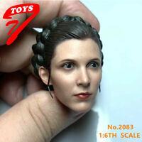 US 1/6 Leia Head Sculpt Princess Organa Solo Fit 12'' Female PH Action Figure