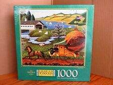 Vintage Charles Wysocki MB 1000 Piece Puzzle Paper Route 1997 MB NEW Sealed