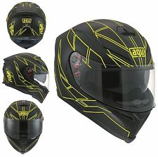CASCO K-5 AGV E2205 MULTI - HERO BLACK/YELLOW FLUO  TG. XL - 0041A2F00510