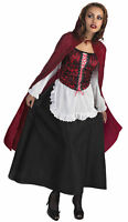 RED RIDING HOOD DELUXE ADULT WOMENS COSTUME Dress Cape Famous Theme Halloween