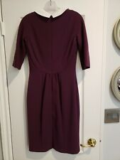 Beauitful Plum Dress with White Collar by Hobbs London