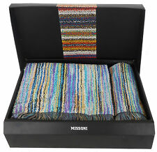 MISSONI HOME SET ASCIUGAMANI COFANETTO REGALO OWEN 170 ECO TESSITURA  E TINTURA