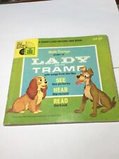1965 Walt Disney Book & Record Lady And The Tramp Disneyland Record