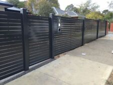 AR aluminium slat fence, powder coated slat and post, post caping included