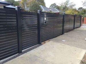 AR aluminium slat fence, powder coated slat and post, post caping included