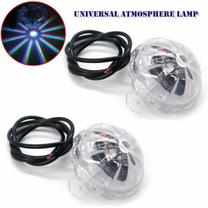 2PCS LED Colored Light Car Motorcycle Vihicle Under Body Atmosphere Lamp 10W 12V