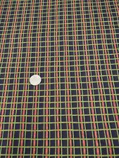brown red green check / plaid 100% Cotton Quilting Craft Fabric benartex
