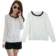 Women's Chiffon Long Sleeve Sleeve Semi Fitted Casual Tops & Shirts