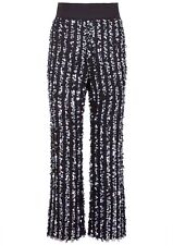 Thakoon Cropped Flare Sequin Pants Trousers Black/Blue 4 Nwt $2350