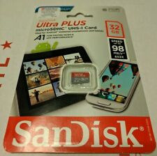 AUTHENTIC SanDisk - Ultra PLUS 32GB microSDHC UHS-I Memory Card
