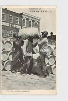 PPC POSTCARD LOUISIANA NEW ORLEANS BLACK AMERICANA NEGROES UNLOADING CARGO