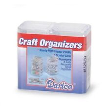 1 set of 10 pc Square Bead or Craft Organizer Caddies w/2 Lids - Snaps together