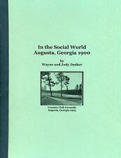 In the Social World, Augusta, Georgia 1900