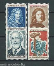 FRANCE CÉLÉBRITÉS - 1965 YT 1442 à 1445 - TIMBRES NEUFS** LUXE
