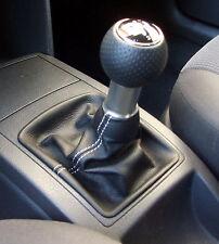 VW POLO 6N 6N2 TDI 16V GTI CUFFIA LEVA CAMBIO IN VERA PELLE NERA