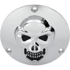 3d Skull embrague tapa cromo, f. Harley-Davidson Big Twin 70 - 98