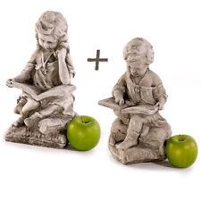 Gartenfiguren Skulpturen Steinfiguren 2erSet Sandstein  Statue Gartendeko 692895