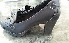 Rockport real black leather adiPrene by Adidas heel  court shoes size uk 3. VGC